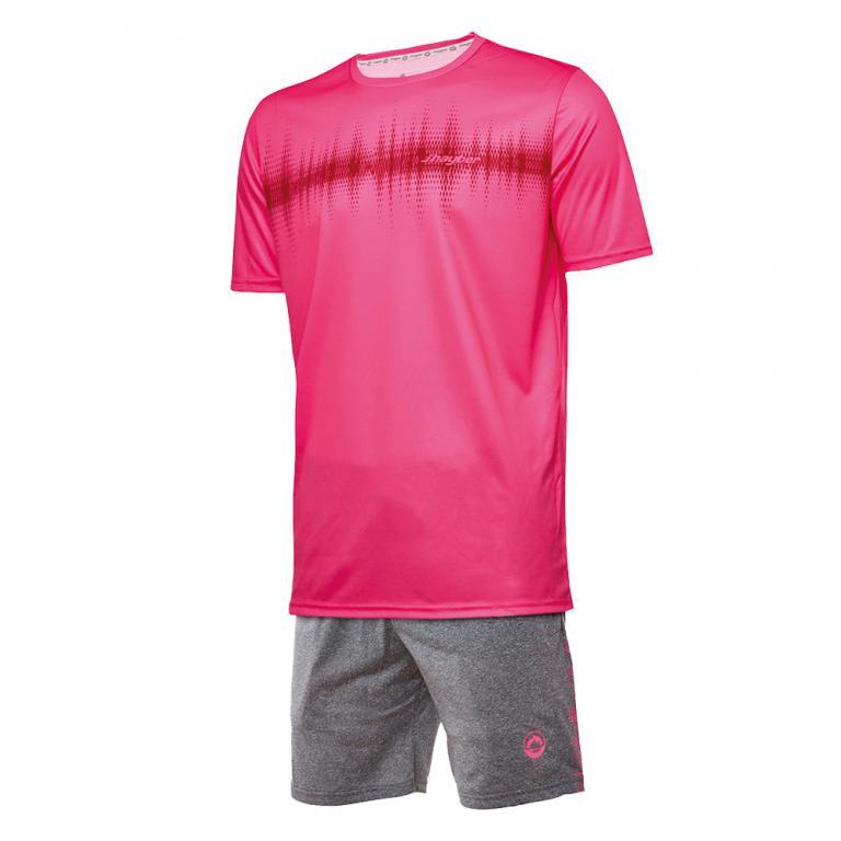 DA23024-800 Conjunto deportivo hombre frecuencia rosa