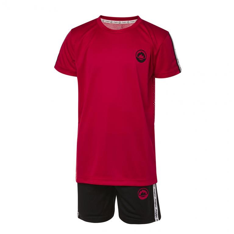DN23033-400 Conjunto deportivo niño band rojo