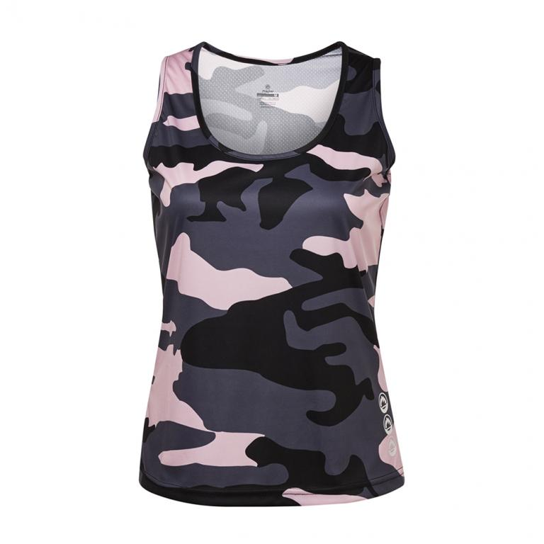 DS3202-28 Camiseta deportiva brand mujer gris