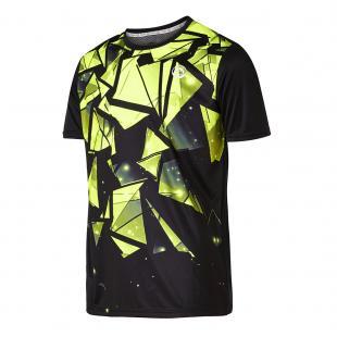 DA3229-207 Camiseta deportiva Impact negra y amarilla