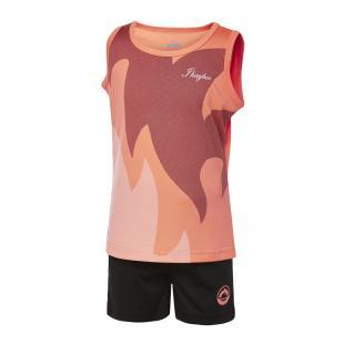 DN23038-800 Conjunto deportivo niña flame coral