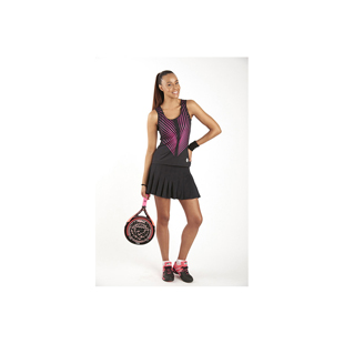 DS3168-208 Palm negro-fucsia