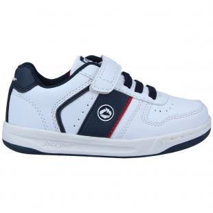 ZJ460131-137 Zapatillas de niño Copete Blanco-Marino