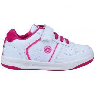 ZJ460131-188 Zapatillas de niña Copete Blanco-Fucsia