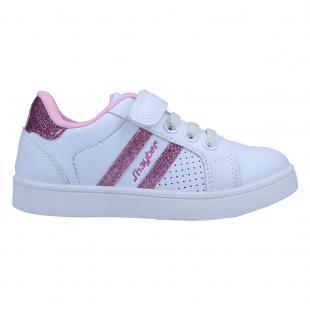 ZJ581714-108 Zapatillas de niña chole blanco y rosa