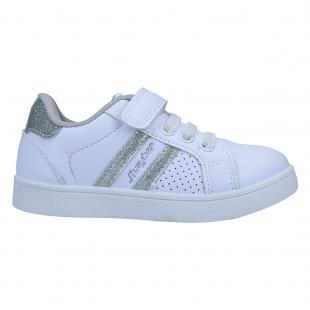 ZJ581714-125 Zapatillas de niña chole blanco y plata