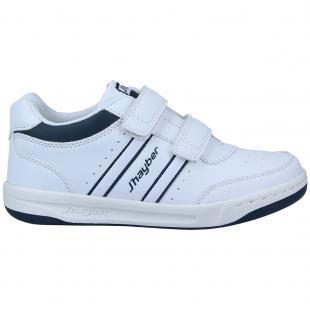 ZN460126-137 Zapatillas de niño Cilindro Blanco-Marino
