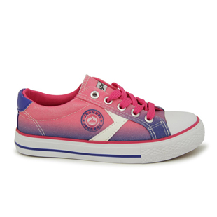 Zapatilla Walking Kids Wolante blanco-fucsia
