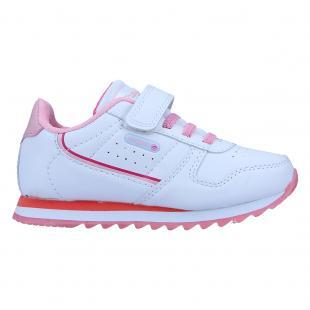 ZN581532-108 Zapatillas de niña Chirajo Blanco-Rosa